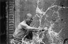 A series of black and white photographs on the world of Shaolin monks, by the photographer Tomasz