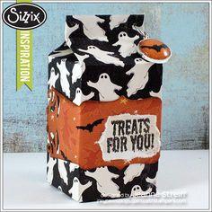 Sizzix Die Cutting Inspiration | Halloween Treat Box by Jeanne Streiff