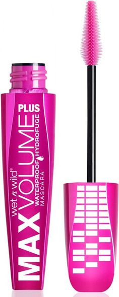 wet n wild Max Volume Plus Waterproof Mascara AmpD Black. This headlining mascara is not for the faint of heart, blowing out your amps and intensifying your natural lashes. Save more on Wild Deals up to off! Mascara Tips, How To Apply Mascara, Applying Mascara, Wet N Wild, Lengthening Mascara, Pink Lipsticks, Natural Lashes, Natural Makeup, Natural Hair