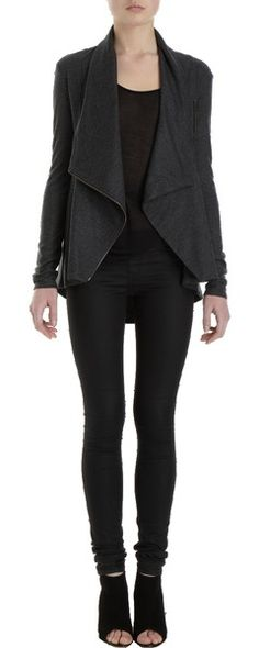 Cowl Front Jacket by Helmut Lang  <3, wish I had tons of money to spend on pinterest
