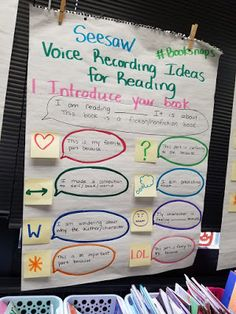Seesaw and Check out these three anchor charts that will help you and your students create lasting literacy impressions. I would recommend taking time with the charts so the kids know how to use them independently in a center/station. Instructional Technology, Educational Technology, Seesaw App, 3rd Grade Reading, Third Grade, Preschool Schedule, Online Classroom, Too Cool For School, School Stuff