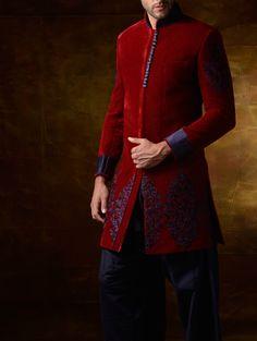 Velvet Indo-Western wear