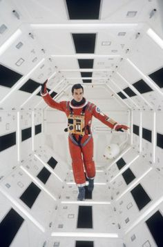 Keir Dullea on the set of 2001: A Space Odyssey. By Dmitri Kessel.