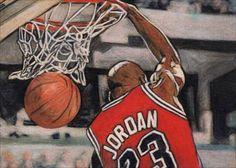 ORIGINAL ACEO MICHAEL JORDAN CHICAGO BULLS NBA BASKETBALL SKETCH CARD DRAWING