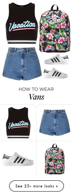 """""""Untitled #275"""" by sahana-raghu on Polyvore featuring New Look, Glamorous, adidas and Vans"""