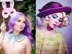 A It é moderna e irreverente, com cabelos colorido e rosto de boneca possui uma linha de maquiagens que traduzem todo seu estilo e personalidade através das cores, inspirando contos de fada.