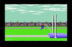 commodore 64...flashback to 1984. Spent HOURS on this thing.  Favorite was the diving competition.