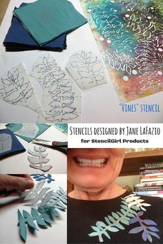 JaneVille: Customized art-to-wear with stencils