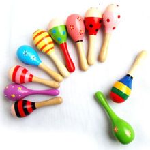 US $14.06 5pcs Baby Wooden Sand Hammer Colorful Ball Rattle Toy Sound Music Infant Learning Musical Instrument Percussion Toys for Kids. Aliexpress product