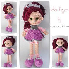 Amigurumi Şeker Kız Yapılışı-Amigurumi Free Pattern Candy Doll