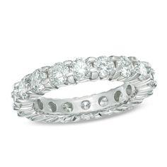 Ladies' 3 CT. T.W. Diamond Eternity Wedding Band in 14K White Gold