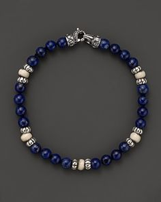 Scott Kay Lapis and Bone Beaded Bracelet | Bloomingdale's