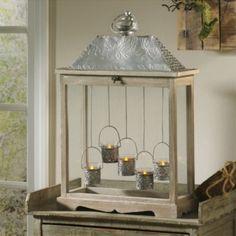 Votive Candle Lantern. I like this style <3