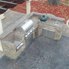 L-Shaped Custom Outdoor Kitchen L-01