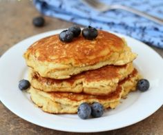 Toasted Coconut Pancakes - toasting the coconut brings out the natural sweetness and makes it perfectly sweet.