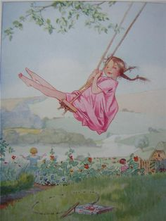 This is me swinging when I was a child. Honor C. Appleton The Bower Book of Simple Poems