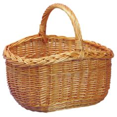 A great alternative to the Cookery Basket, this Oval Wicker Shopping Basket is European made in full buff willow wicker. Choice Baskets - beautiful baskets