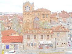 Iglesia de San Vicente desde adarve