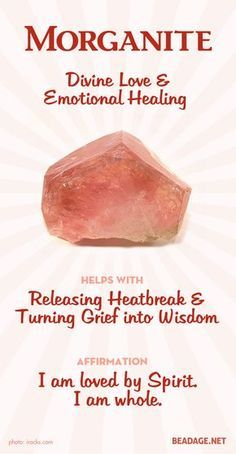 Morganite is a heart chakra stone and carries the energy of Divine love and compassion. It is an excellent stone to heal emotional trauma and grief and see the larger meaning and purpose of it in your life. If you are ready to transform pain, trauma, or l
