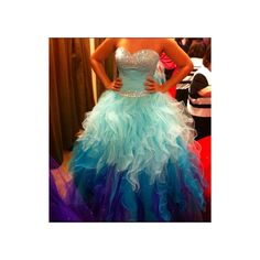 Beautiful Prom Dress/Gown  Teal and Purple sweet 16 dress.