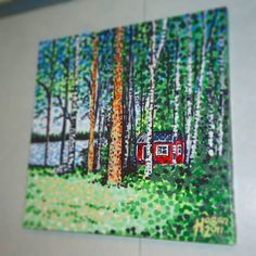 ...when summer arrives many Finns disappear to the countryside or out by the sea to a place I call 'The Escape Hut' (acrylic on canvas). A small summer cottage which usually has a sauna, just like the one in this painting had. I took my first finnish sauna in this one! ...#finland100_igchallenge 83/100 ... posting a series of random images (including some of my own art) from or associated with Finland to celebrate the country's 100th birthday! . . . #art #birch #finland #paintings…