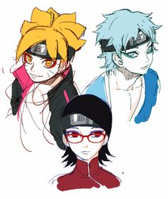 *gasps* NO!! Why does Sarada have Oro-chan make-up?! << what is it with mitsuki doe