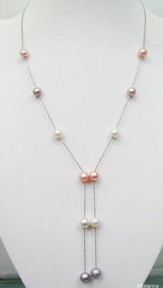 jewelry jewelry MULTI COLORED PEARL NECKLACE.CSA