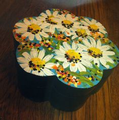 Hand painted wooden box by studiotracey.com
