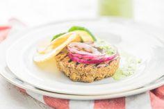 Hamburguesa de lentejas con salsa de kale - Veritas