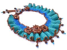 Beadwork by Tatiana Zhuravlevich. Rendezvous Necklace (Fashion Colorworks 2010 Finalist)