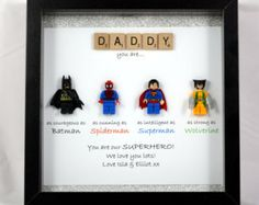 Avengers Superhero figures frame gift. Ideal for dad brother