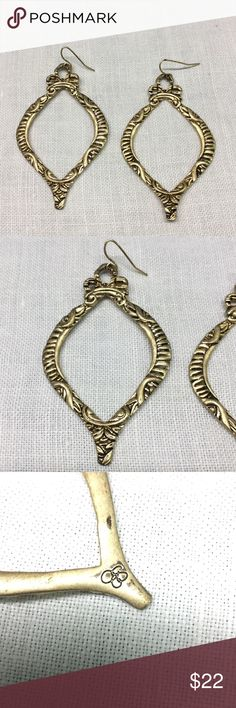 """Jessica Simpson earrings Marked and measures 3"""" X 1 1/3""""..never worn Jessica Simpson Jewelry Earrings"""
