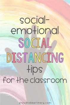 Simple social distancing tips for teaching social-emotional learning in the K-3 classroom. Helpful ideas for teachers to guide instruction in kindergarten, first grade, second grade, and third grade. Continue to build social skills and hold a daily morning meeting with these creative ideas for greetings, activities, and mindfulness themes! Also, strategies for teaching self-awareness, self-management, relationship skills, and social awareness, and digital SEL resources are included.