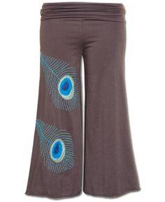 SoulFlower-Pretty as a Peacock Crop Pants-