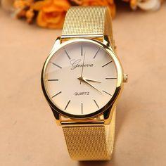 Free Post - quartz watch Europe and selling simple fashion dial alloy belt male quartz watch ladies watches Geneva watch women