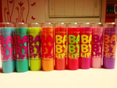 My collection of Baby Lips