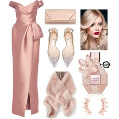 A fashion look from January 2017 by anindyaen featuring Monique Lhuillier, Jimmy Choo, Dorothy Perkins and Banana Republic