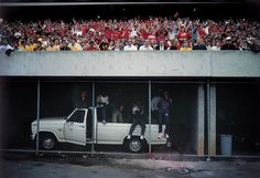 Picture of crowd cheering georgia, University of Georgia, Athens, 1986.  Photo by Sam Abell via National Geographic Proof