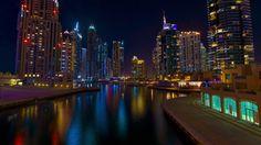 Dubai - Marina at night