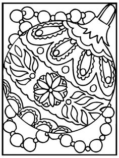 Free printable ornament coloring pages