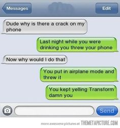 Why is there a crack on my phone? roflmao