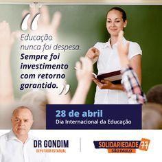 Educar é plantar uma semente com fruto garantido. É cuidar do presente, em prol de um futuro melhor. #FichaLimpa #77000 #Social #DrGondim #votedrgondim77000