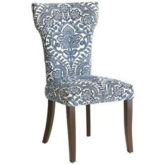 Carmilla Dining Chair - Blue Damask $170