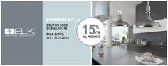 Need new lights for your home or business? Shop CarolinaRustica.com until the end of July and save 15% off all ELK Lighting products! Use coupon code: SUMELK0715