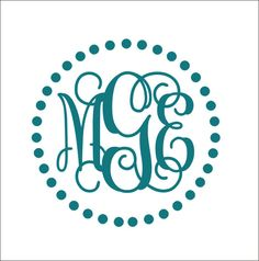 Circle Monogram Car Decal StickerMonogram Car Decal Cute Car - Monogram decal on car
