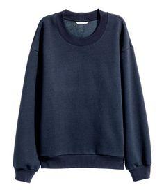 Sweatshirt | Mörkblå | Dam | H&M SE