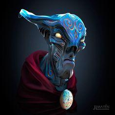 The Sorcerer, Juan Luis Mayen on ArtStation at https://www.artstation.com/artwork/8klXO