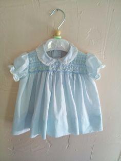 Beautiful Vintage Polly Flinders Baby Blue - my mom used to dress me in Polly Flinders.