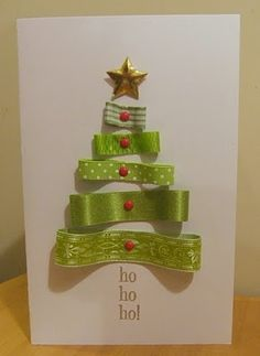 Use ribbon scraps and a piece of Bazzill cardstock. dyi