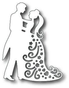 Dance couple stencil